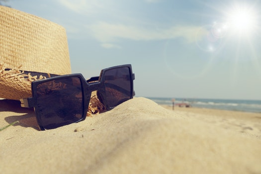 Free stock photo of sea, landscape, beach, sunglasses