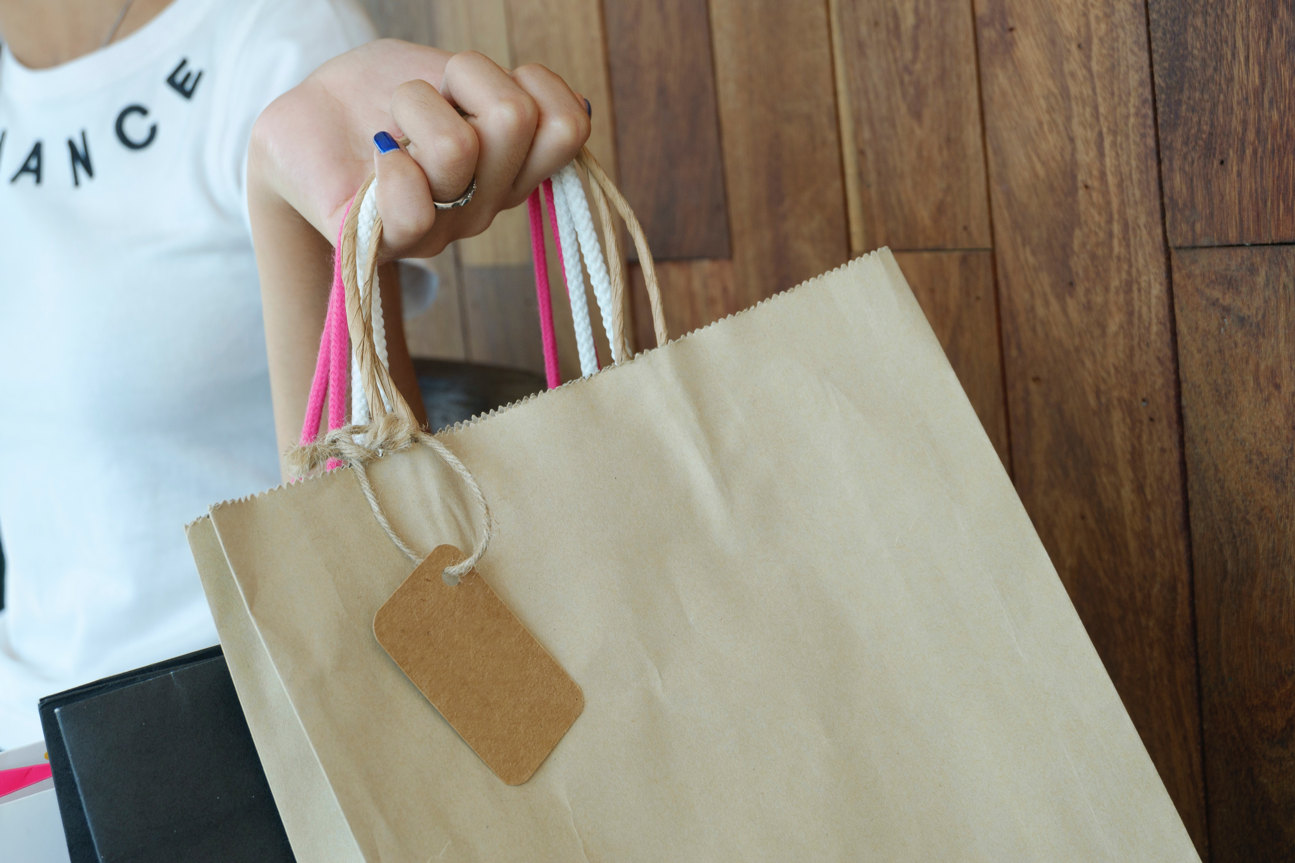 Photo Of A Woman Holding Shopping Bags 183 Free Stock Photo
