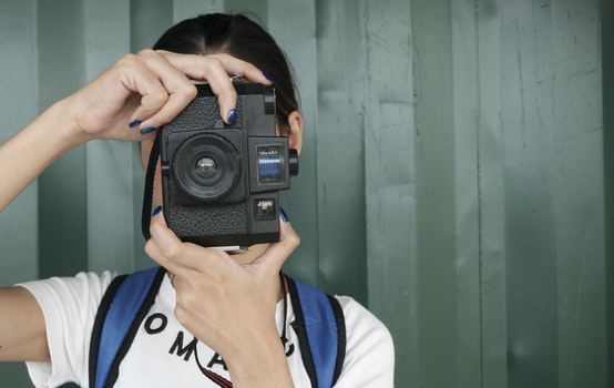 Free stock photo of person, woman, camera, girl