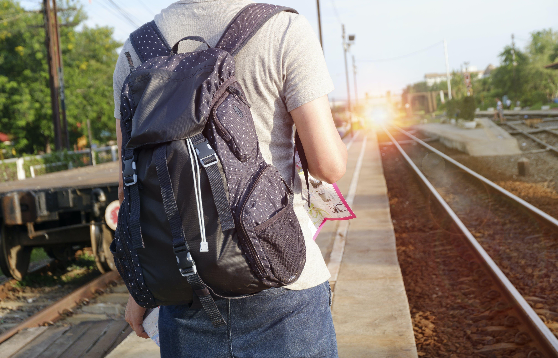alone, backpack, bag