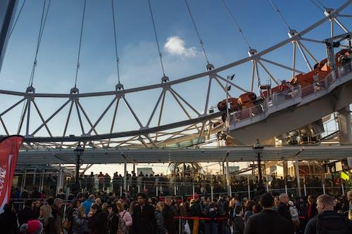 Základová fotografie zdarma na téma dav, jízdy, lidé, London Eye