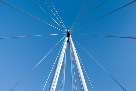 Free stock photo of city, sky, bridge, lines