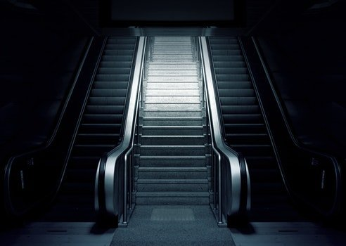 Free stock photo of stairs, black-and-white, dark, station
