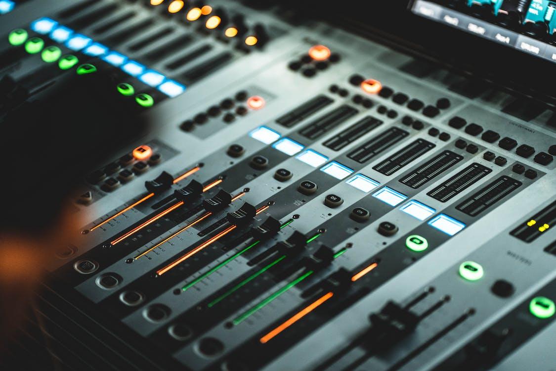 Close-Up Photo Of Audio Mixer
