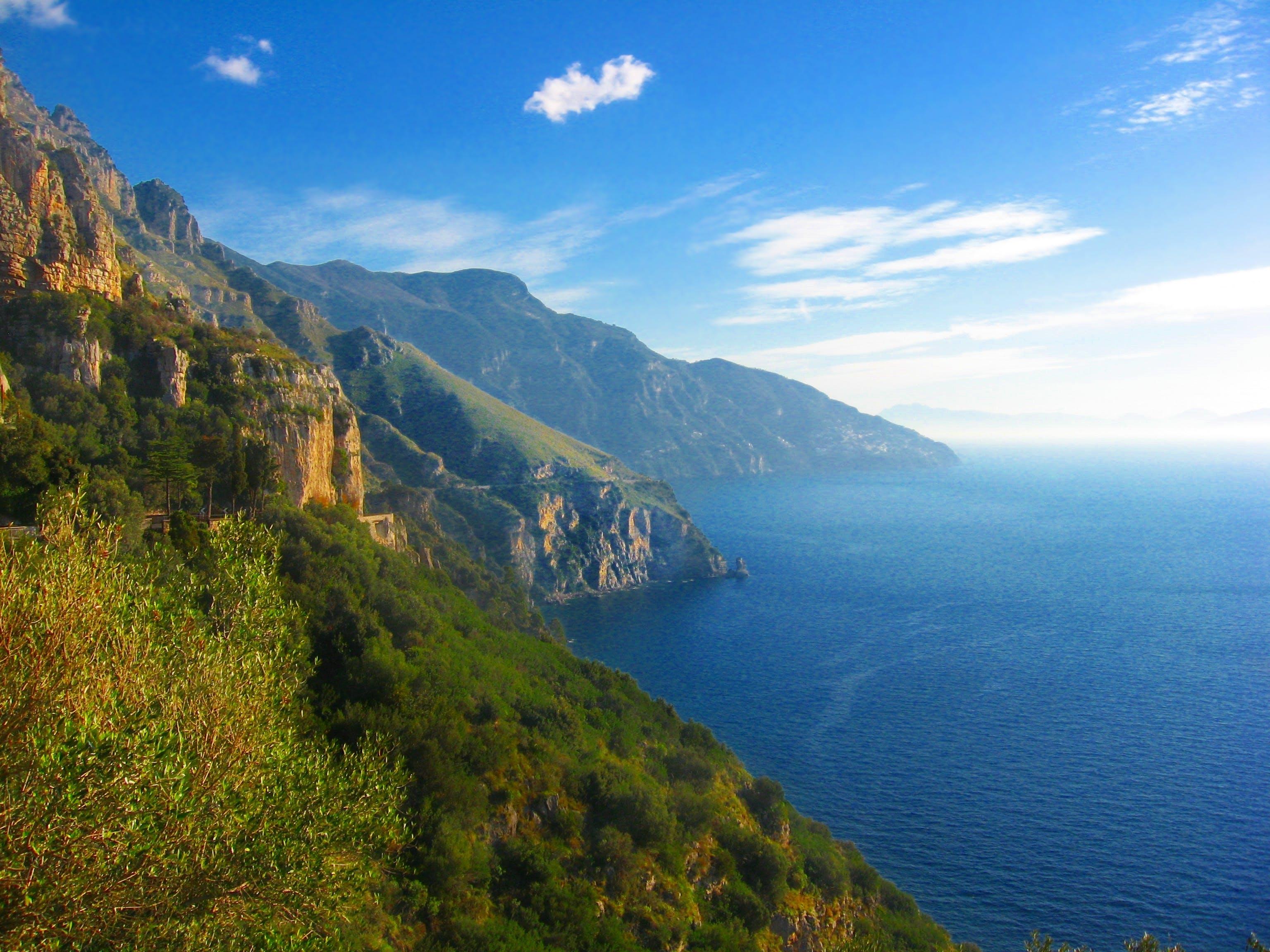 Free stock photo of amalfi, beach, clouds, coast