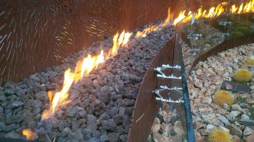 Foto profissional grátis de design, fogo, fogueira, pedras