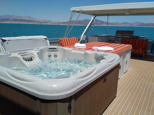 Foto profissional grátis de barco, lago, spa