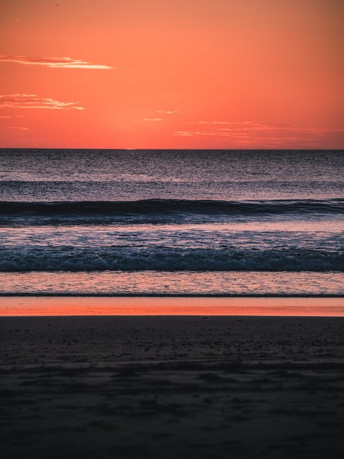 Free stock photo of beach, beach sunset, blue and red, colorful