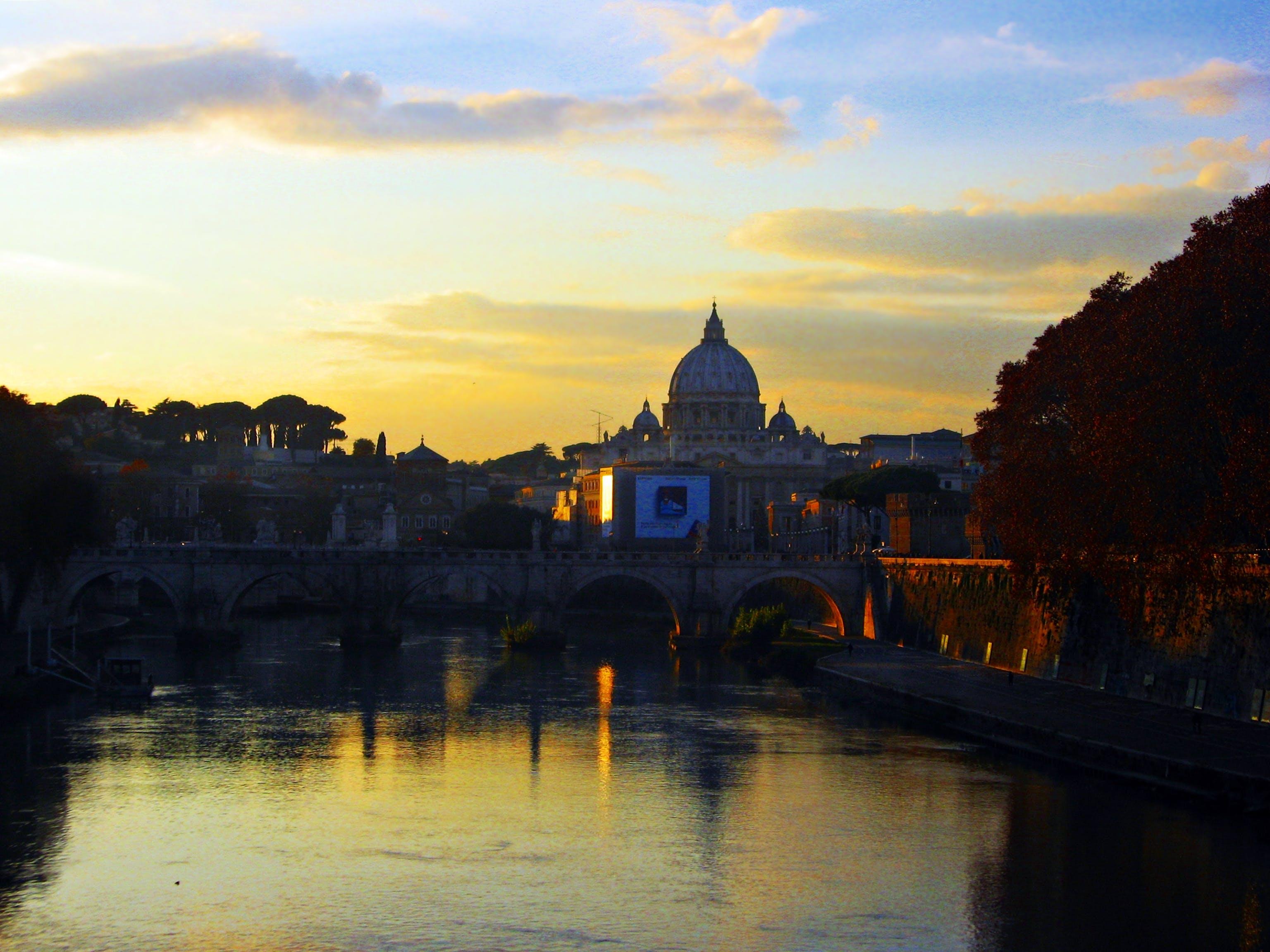 Free stock photo of clouds, ponte romana, reflexos, roma