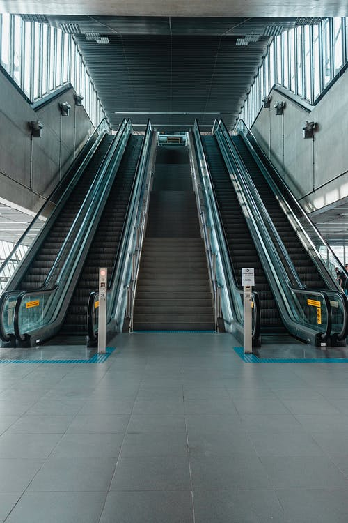 インドア, エスカレーター, ステップ, ターミナルの無料の写真素材