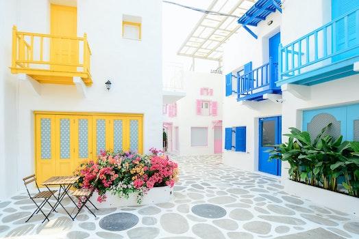 Kostenloses Stock Foto zu häuser, blumen, architektur, reise