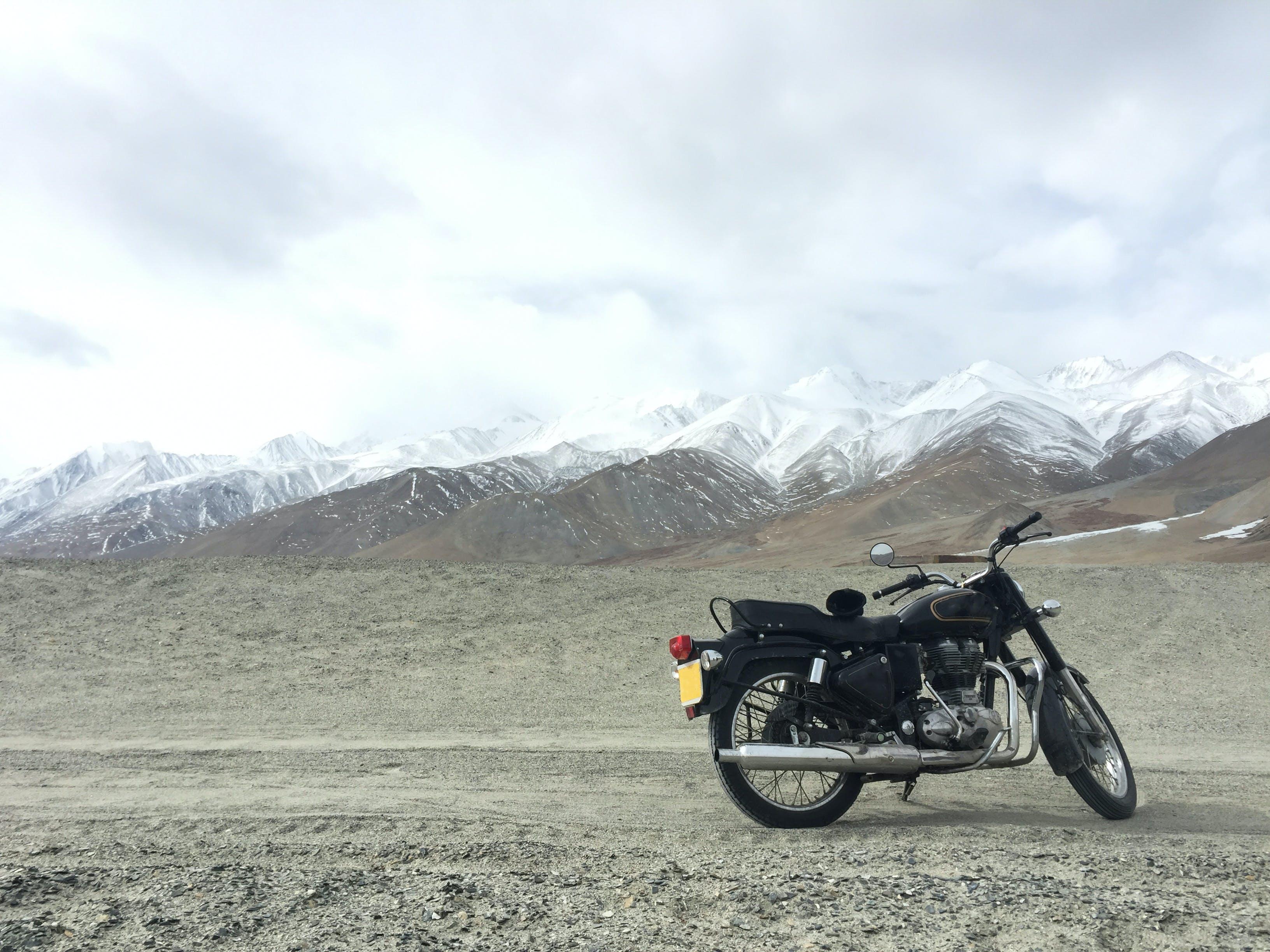Standard Motorcycle on Ground