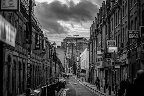 Imagine de stoc gratuită din alb-negru, arhitectură, cenușiu, clădiri
