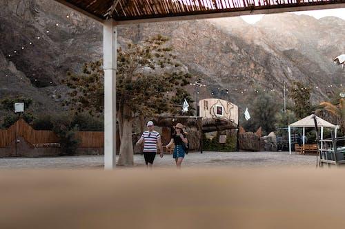 一對, 人, 女人, 度假村 的 免费素材照片