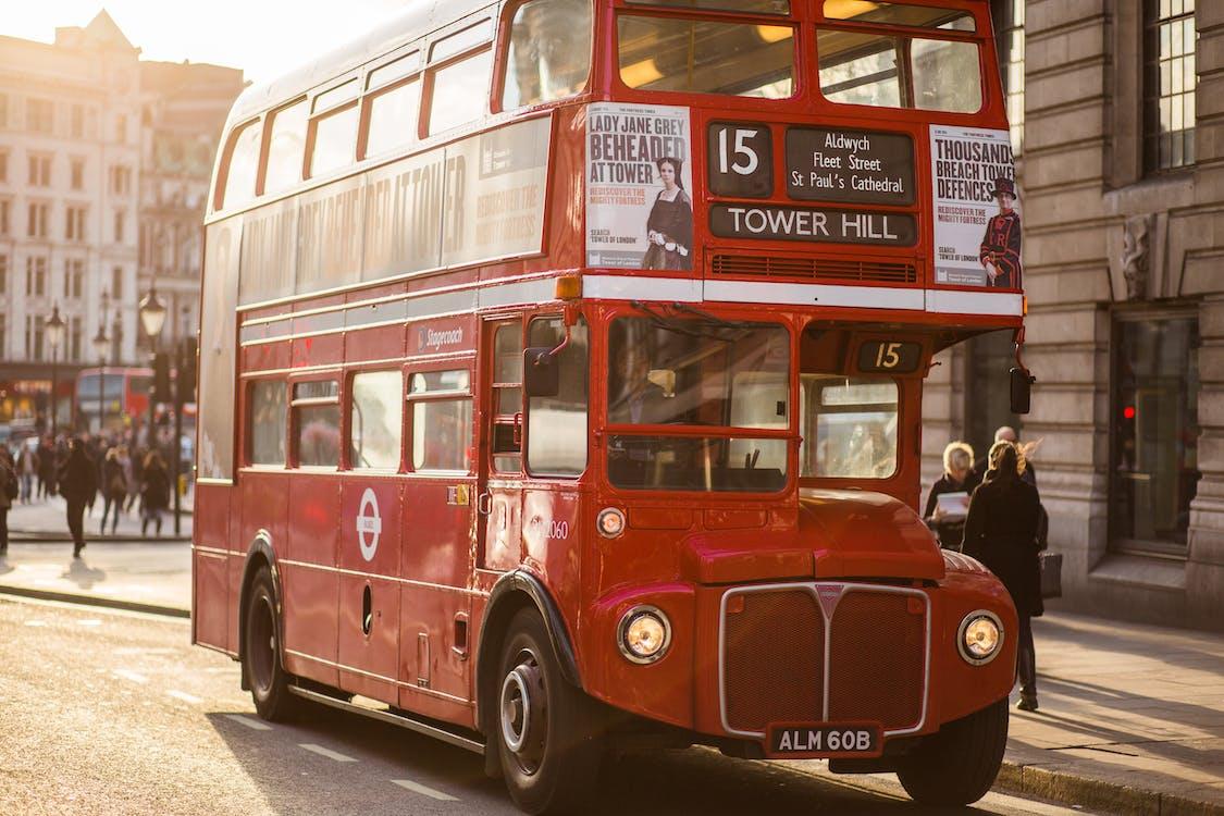 Bus Near Building