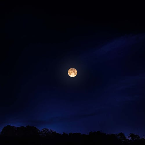 Free stock photo of night time moon