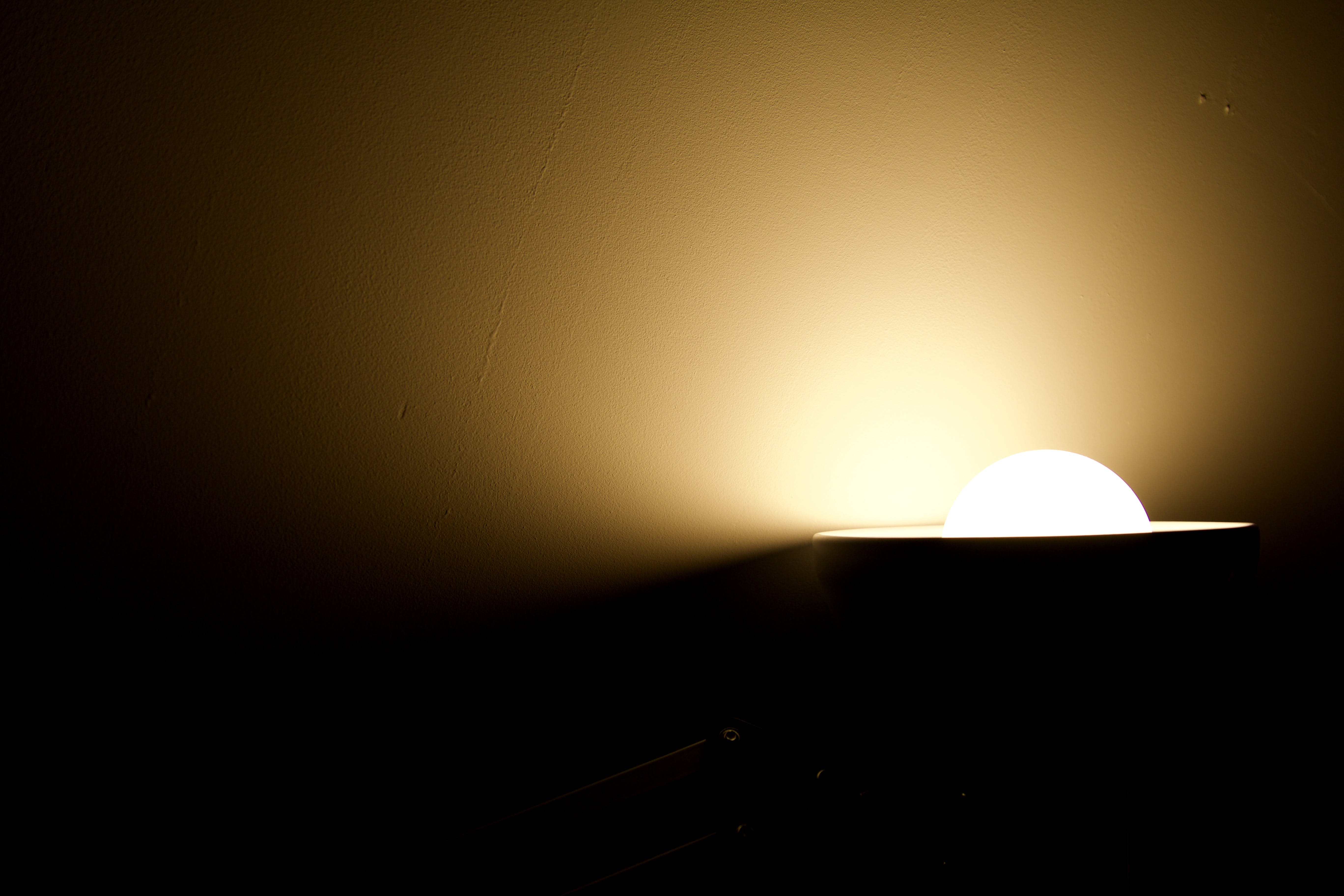 White Light Bulb Turned-on