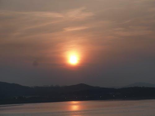 Immagine gratuita di bagliore, tramonto brillante