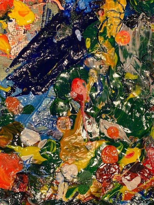 Základová fotografie zdarma na téma abstraktní, abstraktní umění, akryl, akrylová malba