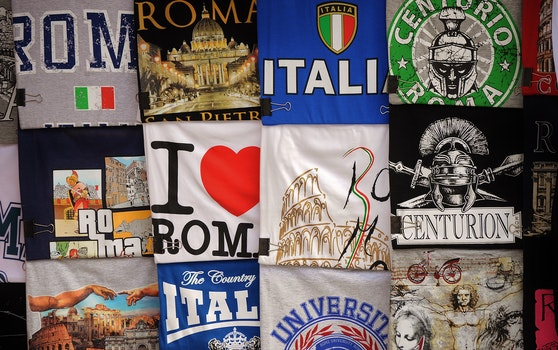 Free stock photo of italian, italy, t-shirts
