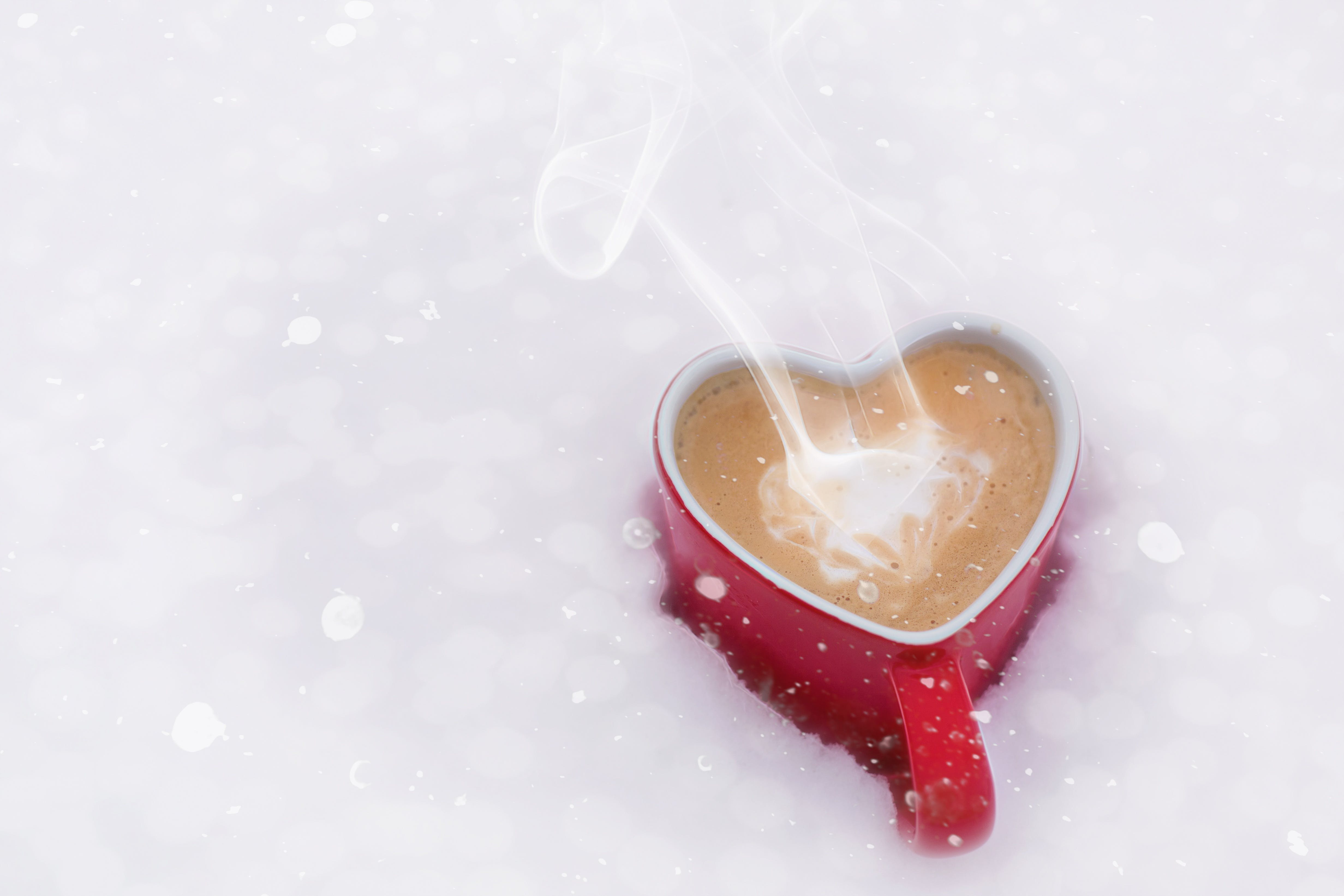 Red Ceramic Heart Shaped Mug
