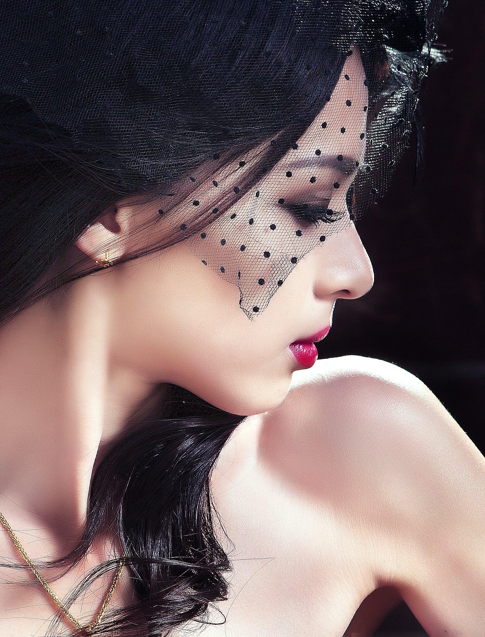 Woman in Black Veil