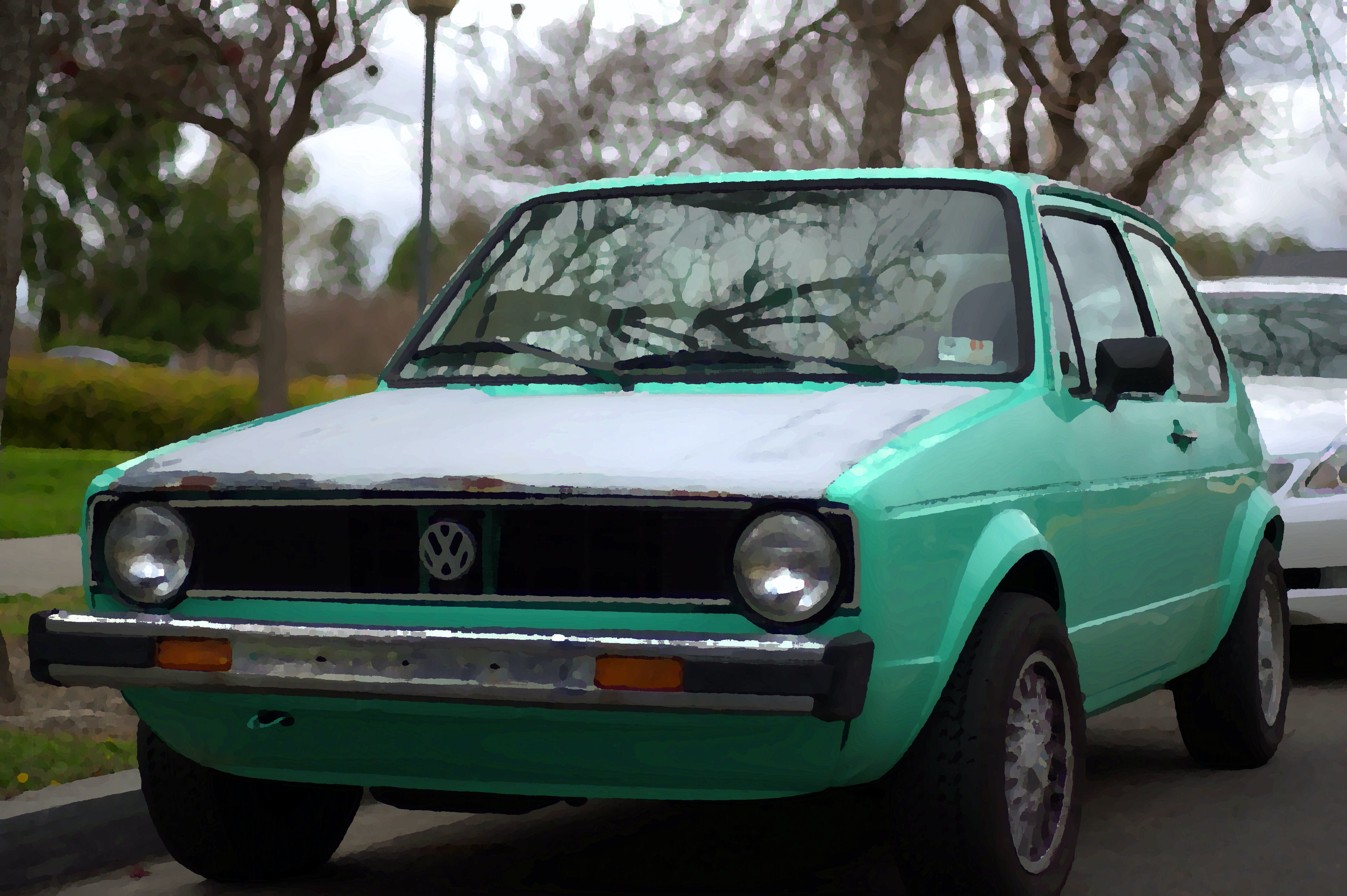 Free stock photo of car, diesel, golf, green