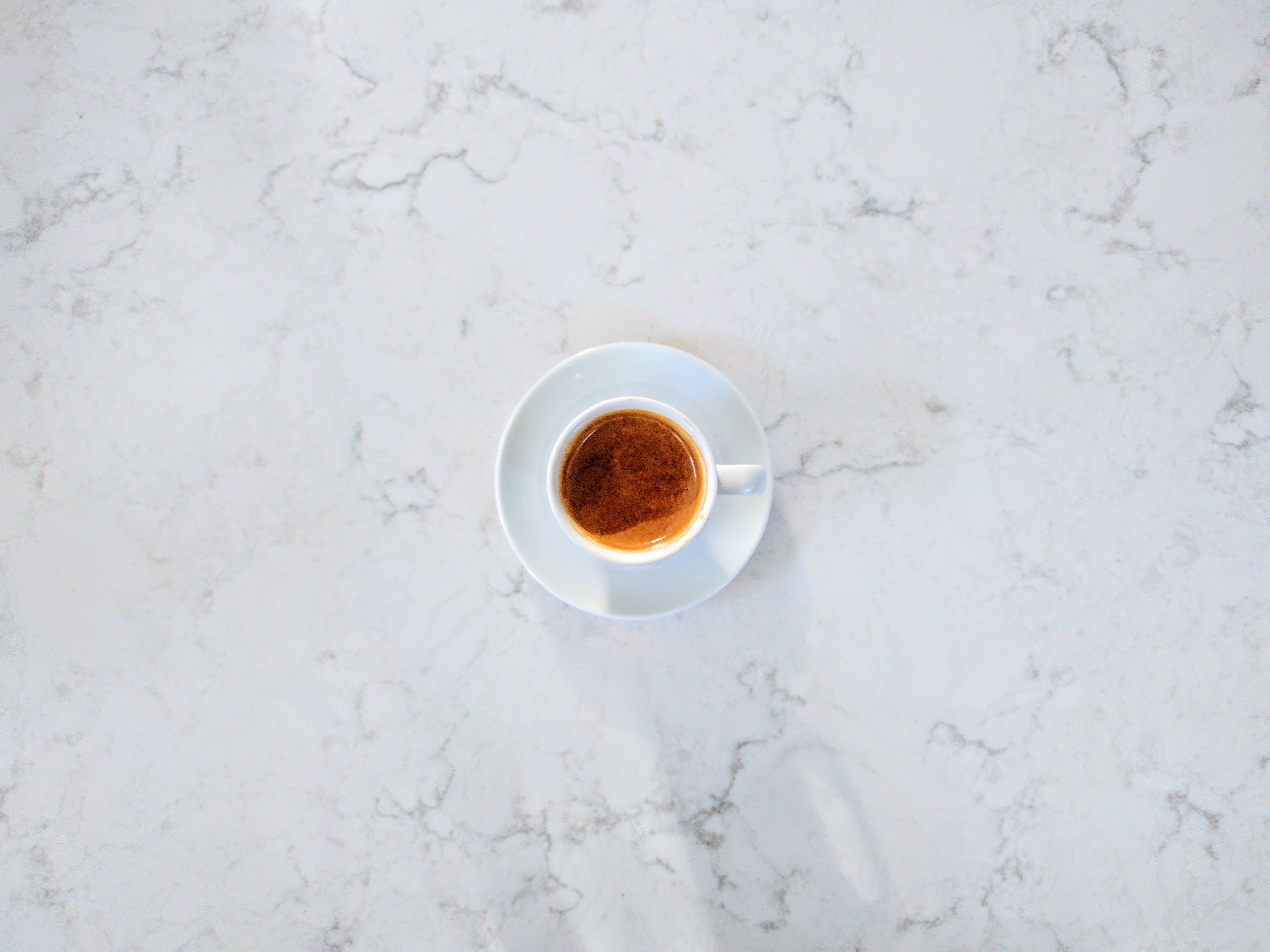 エスプレッソ, コーヒー, 影, 白の無料の写真素材