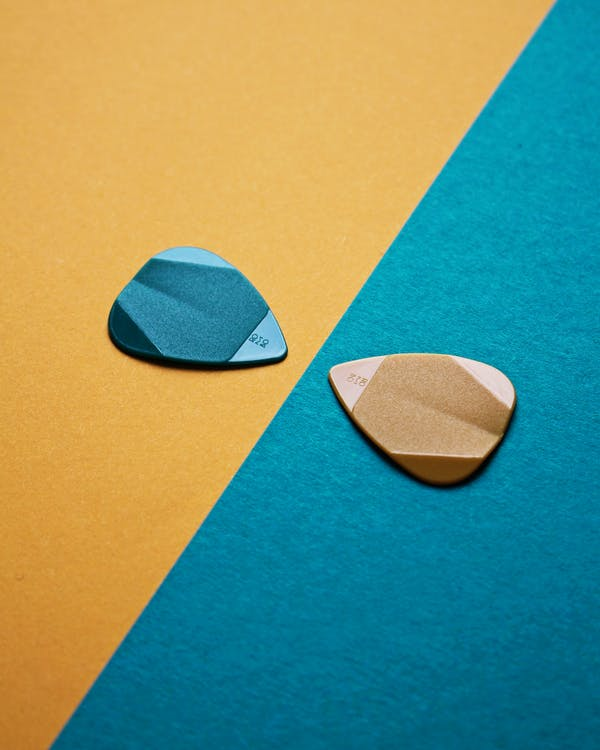 Blue and Brown Guitar Picks