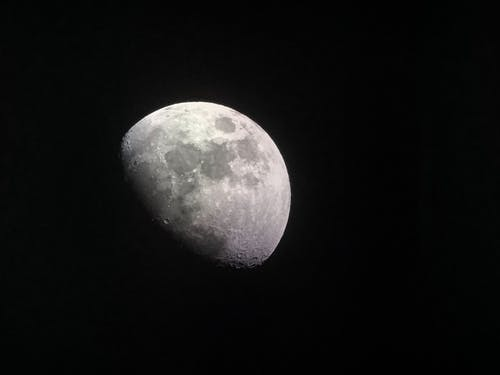 달, 달빛, 밤, 분화구의 무료 스톡 사진