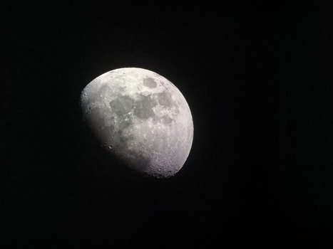 Free stock photo of night, space, dark, moon