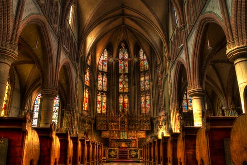 Brown Cathedral Interior