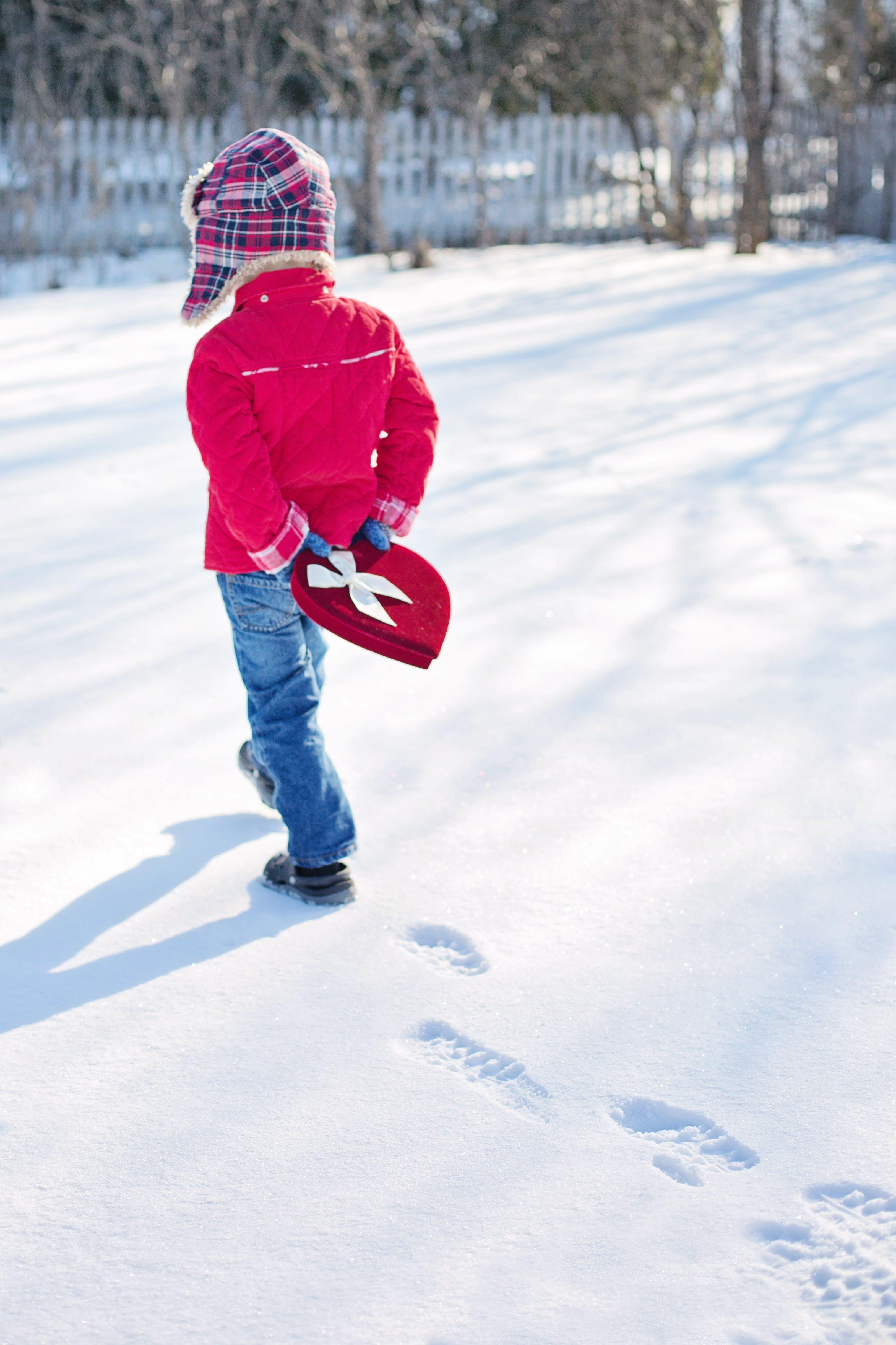 Toddler Walks on Snow