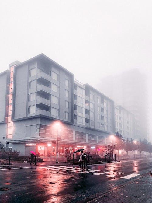 Street Lights Near Building