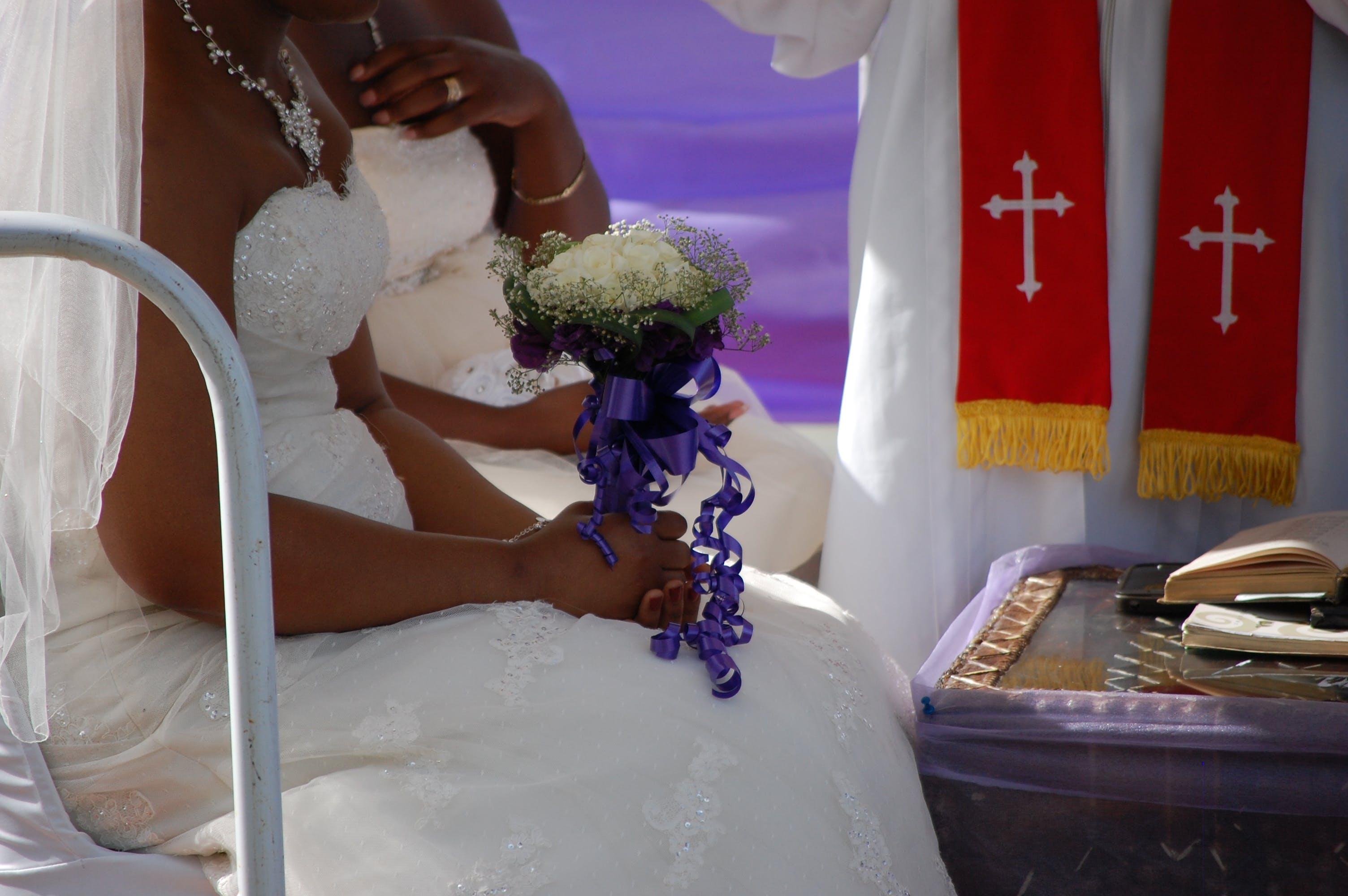 Free stock photo of priest, wedding, wedding dress