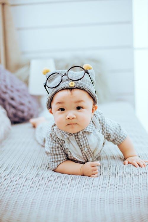 Baby Wearing Knit Cap