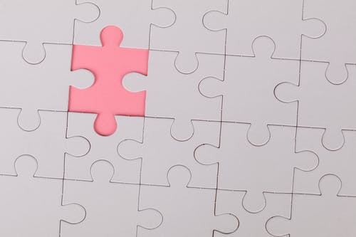 Pink Jigsaw Puzzle Piece