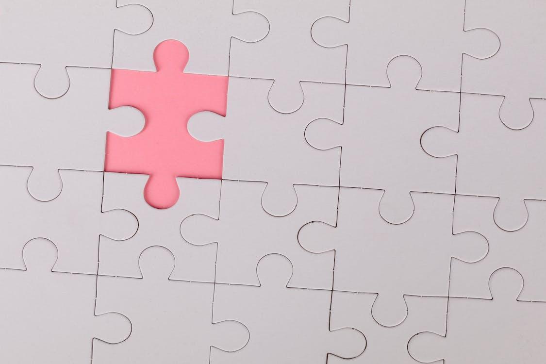 Pink Jigsaw Puzzle Piece