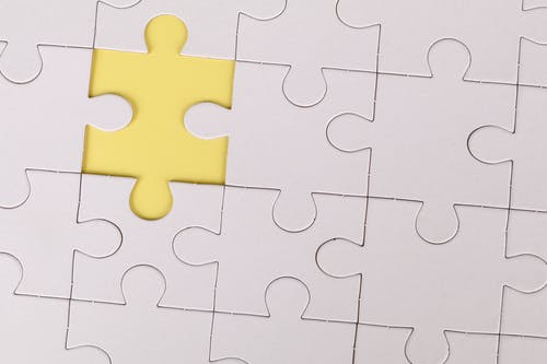 Yellow Jigsaw Puzzle Piece