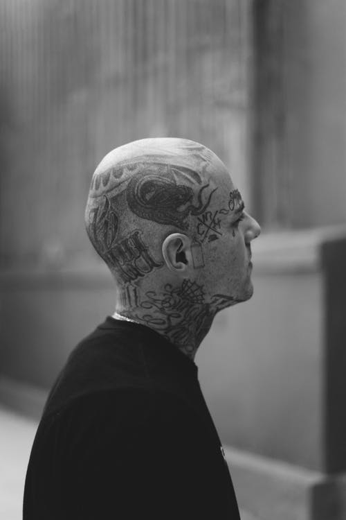 Person Covered With Tattoo