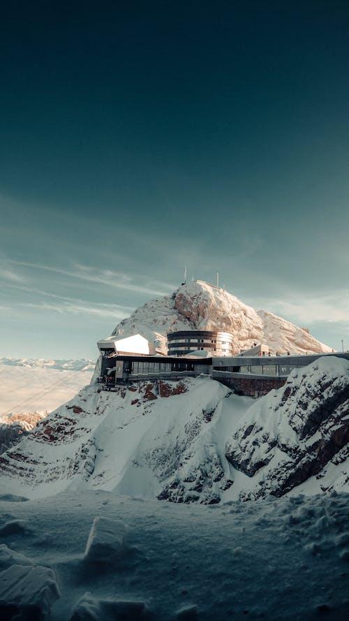 Concrete Building On Mountain Top