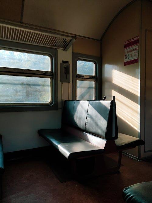 Black Seats Inside a Transportation System