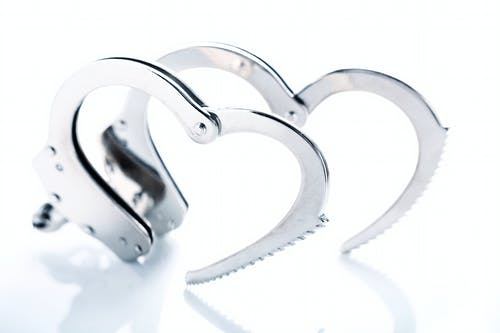 Free stock photo of crime, handcuffs, heart, limited