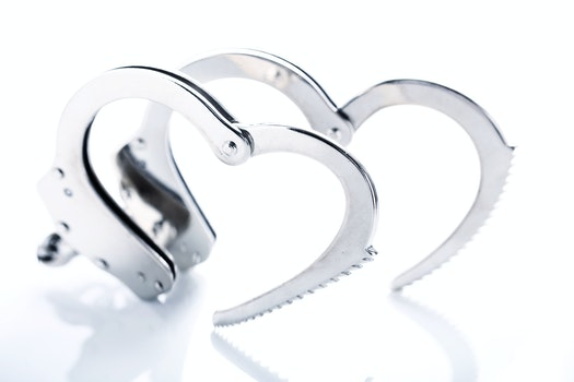 Free stock photo of love, heart, metal, police