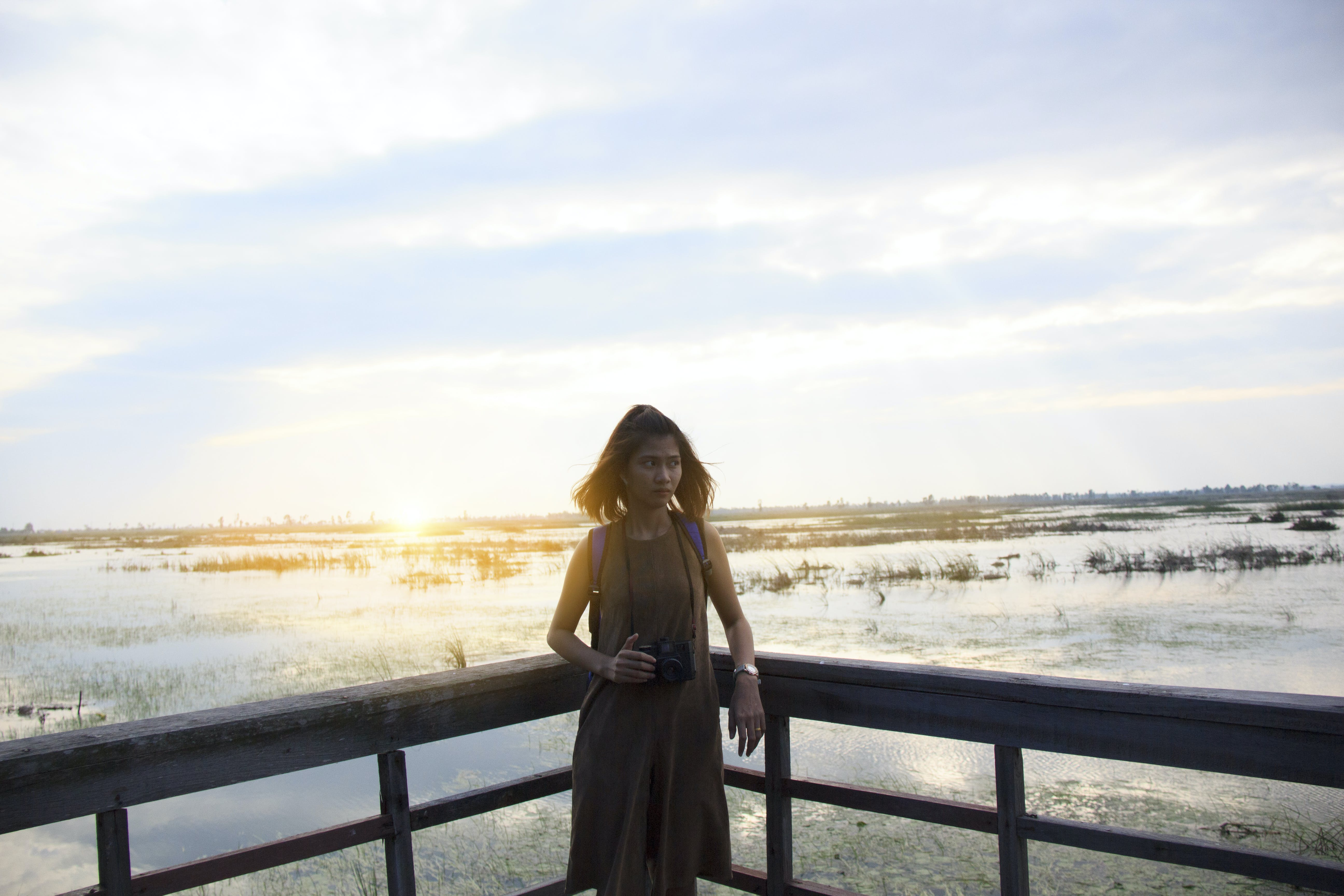 Free stock photo of sky, sunset, person, woman