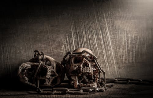 Free stock photo of art, chain, dark, death