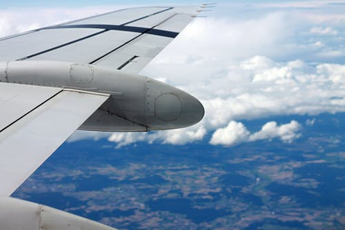 Gray Airplane in Close-up Photography