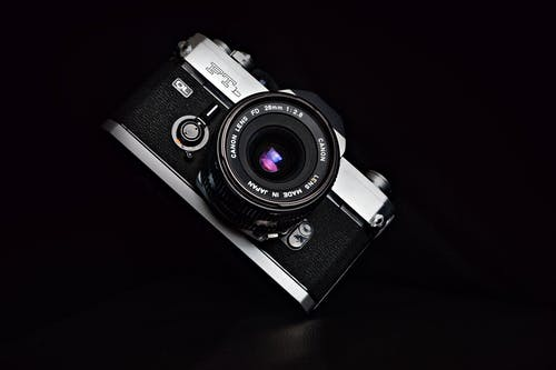 Close-Up Photo of Analog Camera