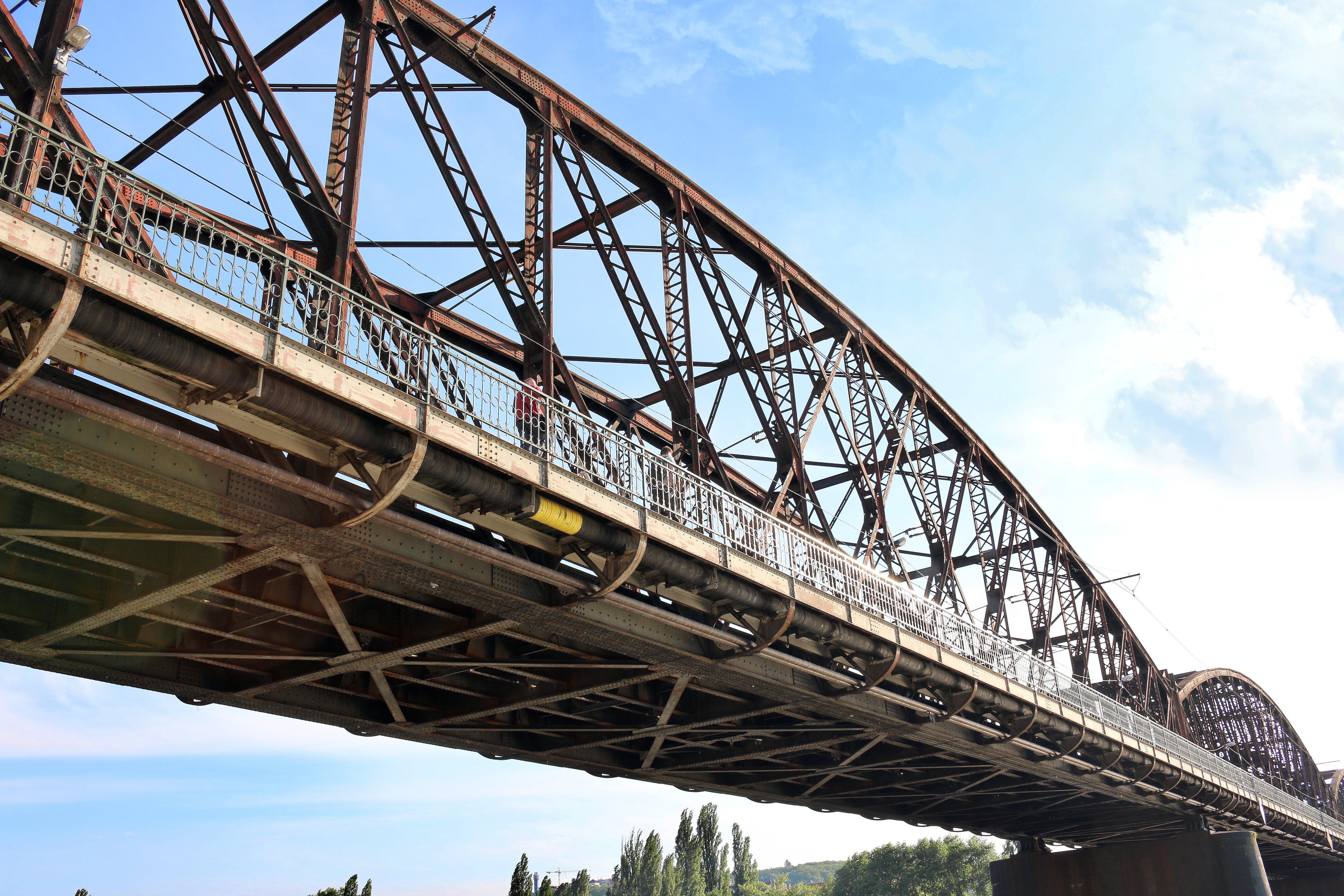 bridge, czech republic, iron