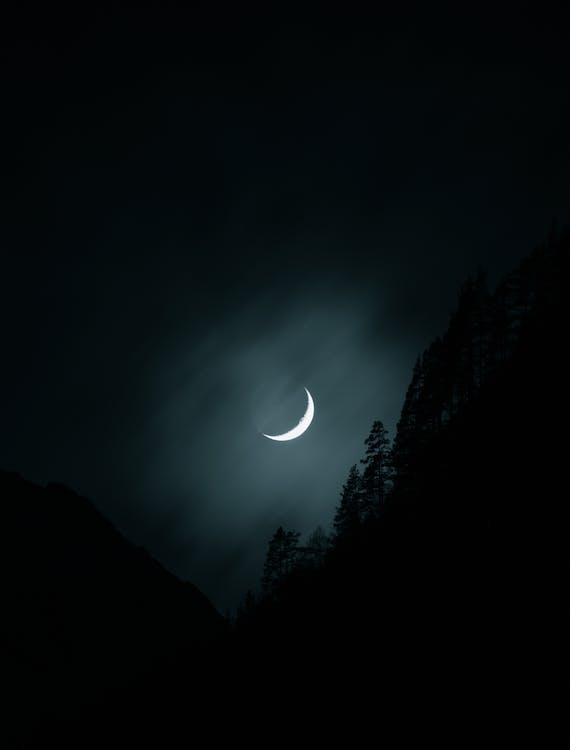 abend, halbmond, luna
